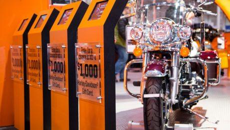 Harley-Davidson Data Capture Kiosks at The Motorcycle Show, Toronto © QuickTapSurvey