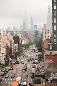 Bowery view from roof uptown