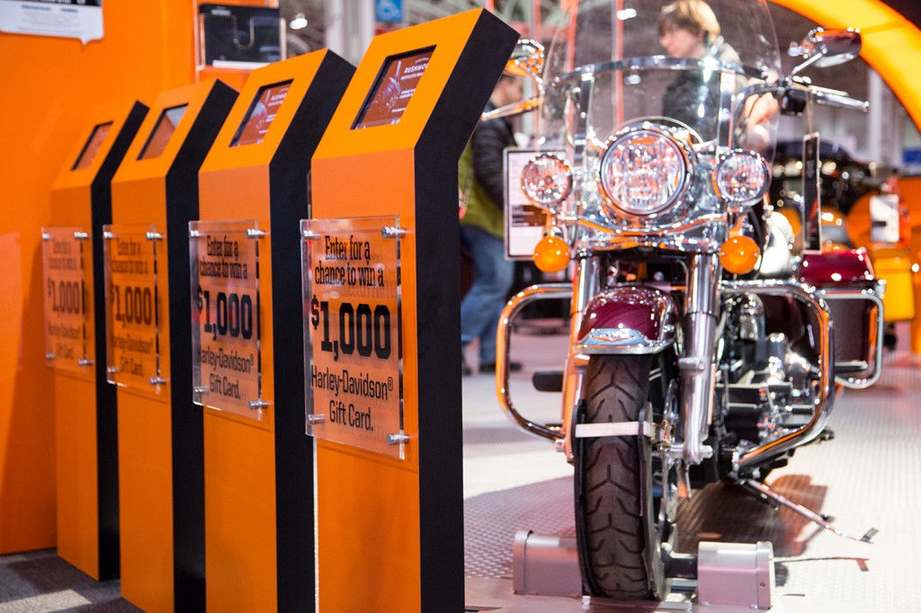 Harley-Davidson Data Capture Kiosks at The Motorcycle Show, Toronto © QuickTapSurvey