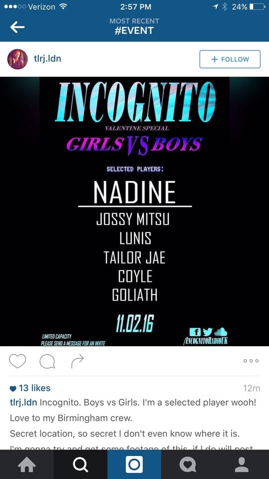 Instagram event promotion